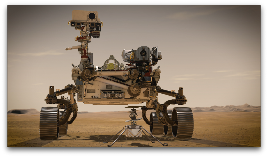 Artist's image of the Perseverance Rover. NASA gallery