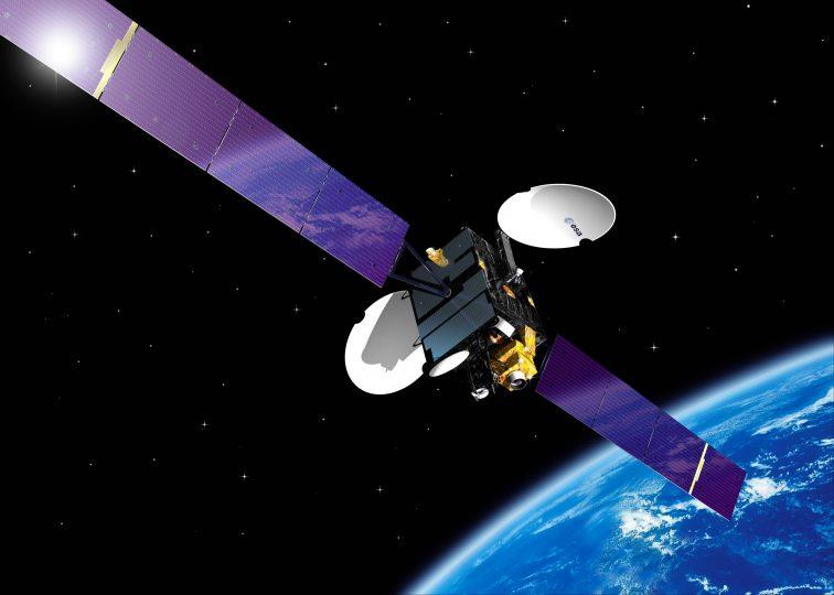 Image of ESA Artemis Satellite in Orbit.