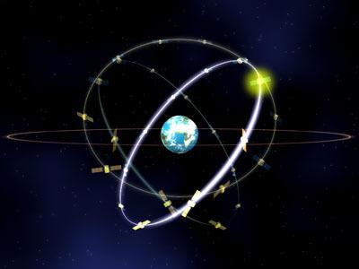 Image of ESA satellite Galileo in Orbit