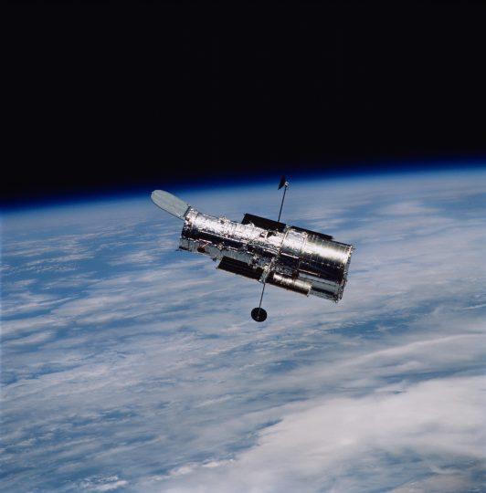 Image of the Hubble Telescope in Orbit