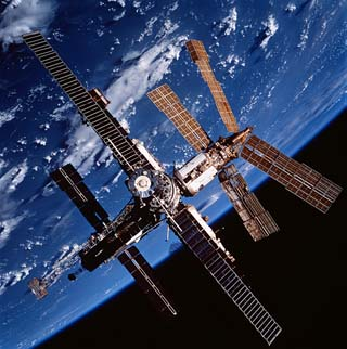 Picture of the Mir Space Station in Orbit.
